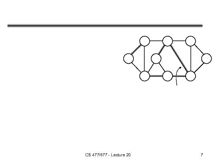 CS 477/677 - Lecture 20 7