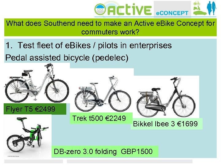 What does Southend need to make an Active e. Bike Concept for commuters work?