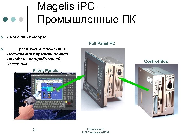 Magelis i. PC – Промышленные ПК ¢ Гибкость выбора: Full Panel-PC ¢ различные блоки