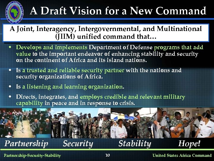 A Draft Vision for a New Command A Joint, Interagency, Intergovernmental, and Multinational (JIIM)
