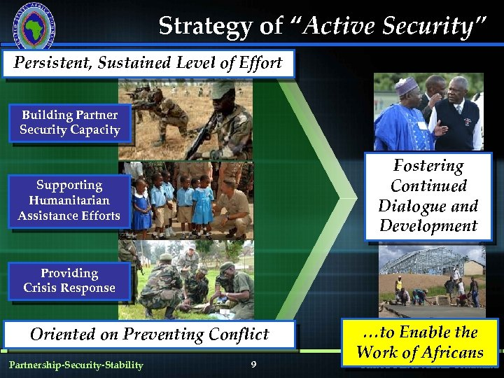 """Strategy of """"Active Security"""" Persistent, Sustained Level of Effort Building Partner Security Capacity Fostering"""