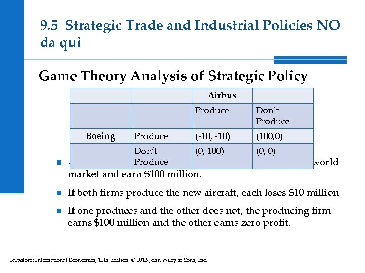 9. 5 Strategic Trade and Industrial Policies NO da qui Game Theory Analysis of