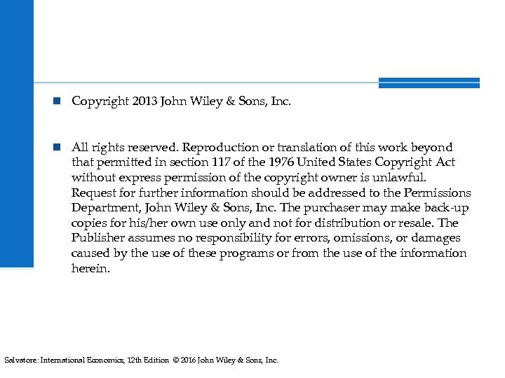 n Copyright 2013 John Wiley & Sons, Inc. n All rights reserved. Reproduction or