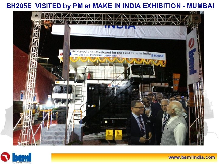 BH 205 E VISITED by PM at MAKE IN INDIA EXHIBITION - MUMBAI