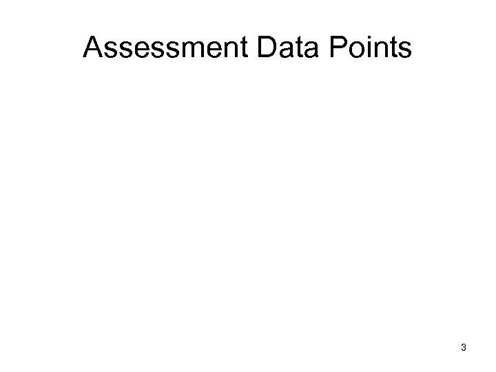 Assessment Data Points 3
