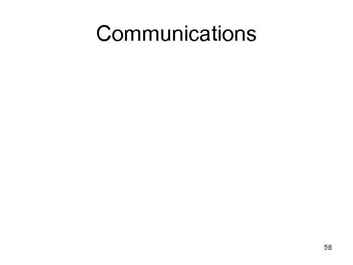 Communications 58
