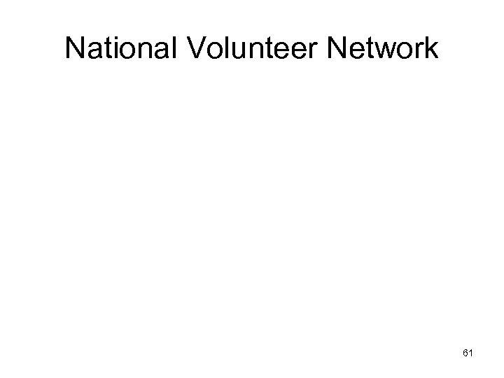 National Volunteer Network 61