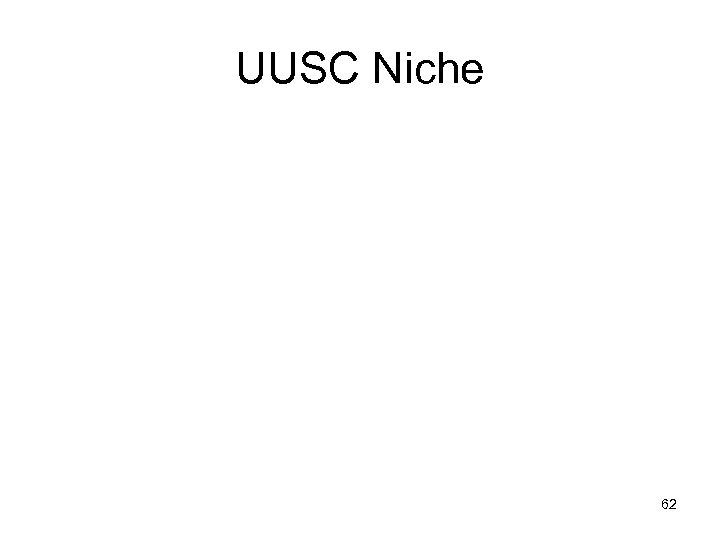 UUSC Niche 62