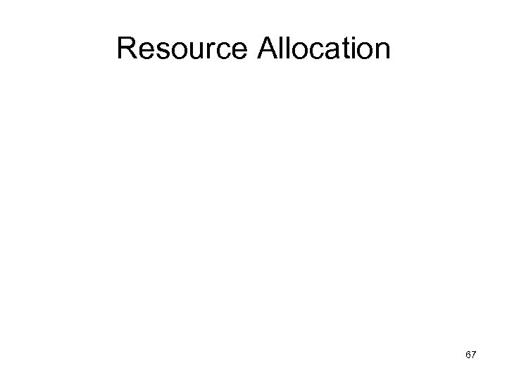 Resource Allocation 67