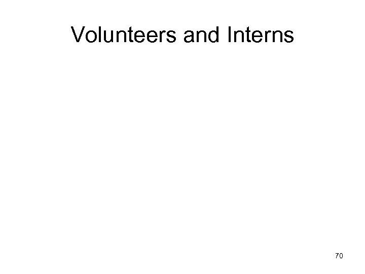 Volunteers and Interns 70