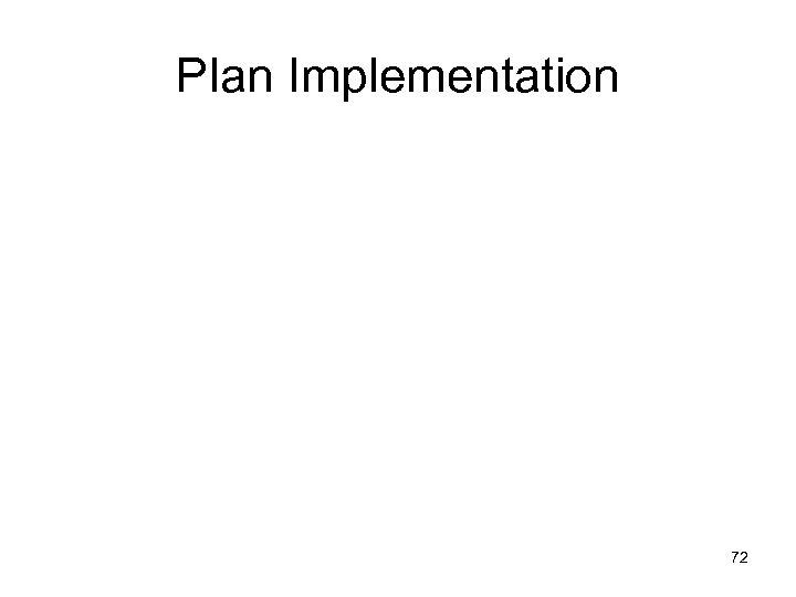 Plan Implementation 72
