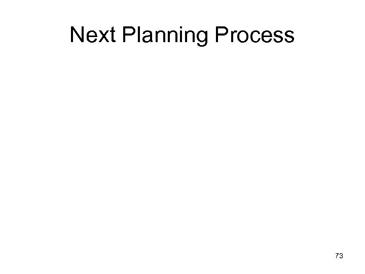 Next Planning Process 73