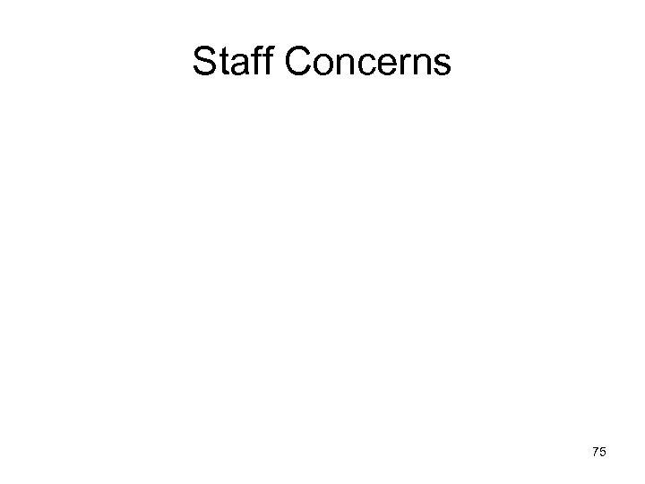 Staff Concerns 75