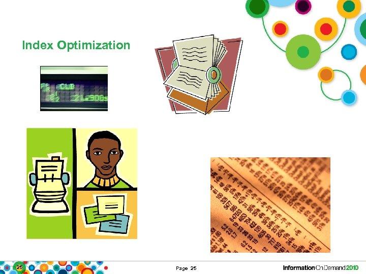 Index Optimization 25 Page 25