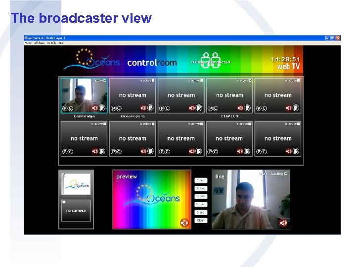The broadcaster view