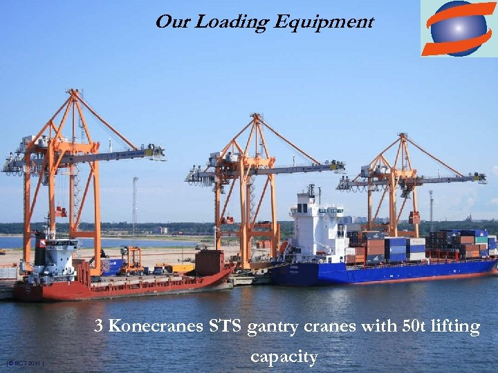 Our Loading Equipment 3 Konecranes STS gantry cranes with 50 t lifting | ©
