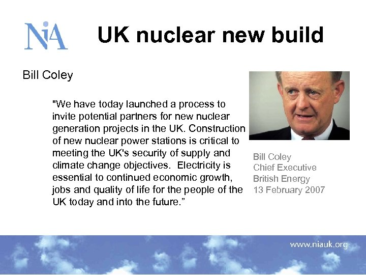 UK nuclear new build Bill Coley