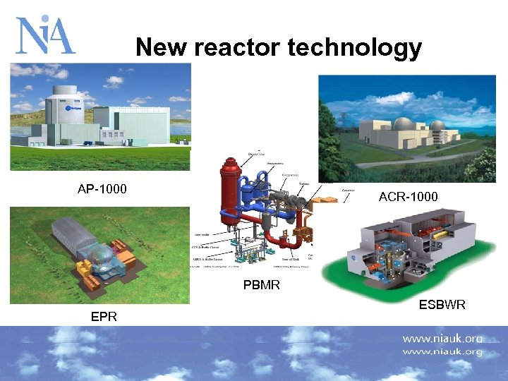 New reactor technology AP-1000 ACR-1000 PBMR EPR 3/17/2018 ESBWR