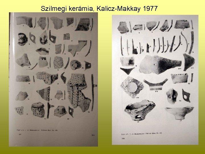 Szilmegi kerámia, Kalicz-Makkay 1977