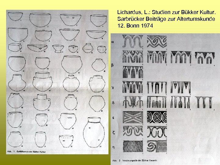 Lichardus, L. : Studien zur Bükker Kultur. Sarbrücker Beiträge zur Altertumskunde 12. Bonn 1974