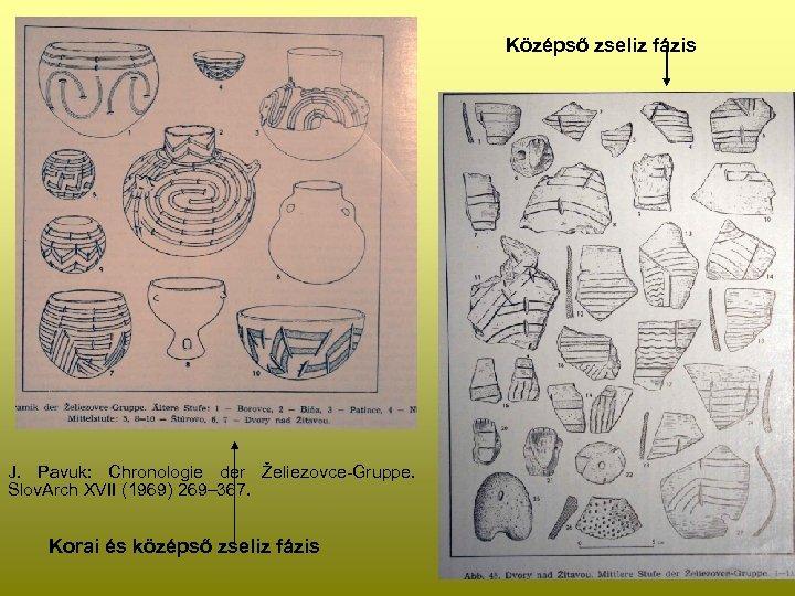 Középső zseliz fázis J. Pavuk: Chronologie der Želiezovce-Gruppe. Slov. Arch XVII (1969) 269– 367.
