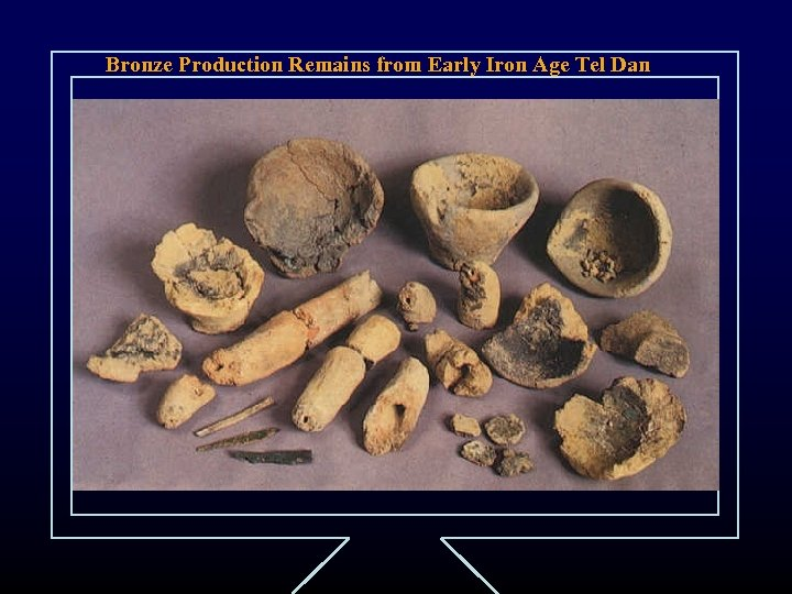 Bronze Production Remains from Early Iron Age Tel Dan