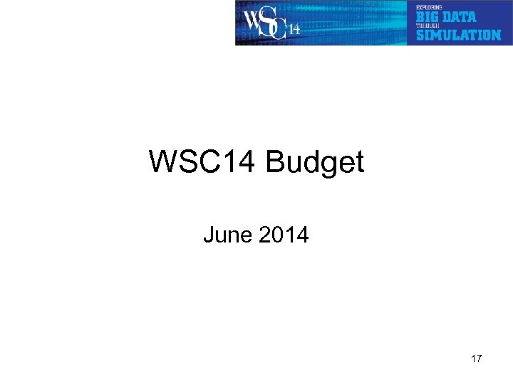 WSC 14 Budget June 2014 17