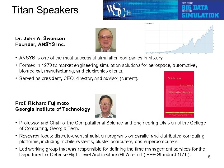 Titan Speakers Dr. John A. Swanson Founder, ANSYS Inc. • ANSYS is one of