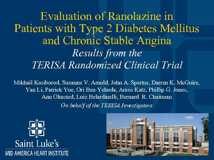 Evaluation of Ranolazine in Patients with Type 2 Diabetes Mellitus and Chronic Stable Angina
