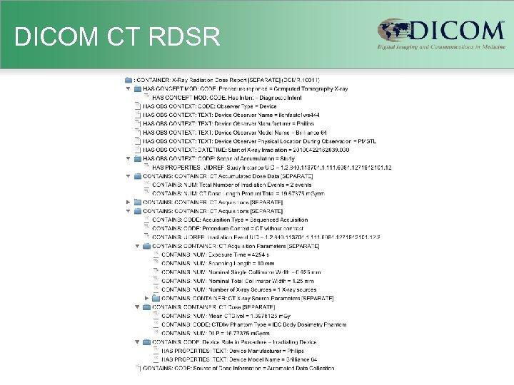 DICOM CT RDSR