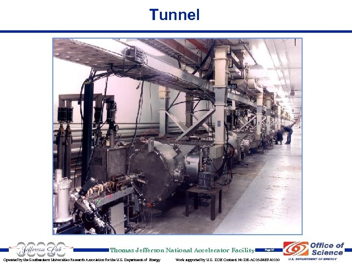 Tunnel Thomas Jefferson National Accelerator Facility Operated by the Southeastern Universities Research Association for