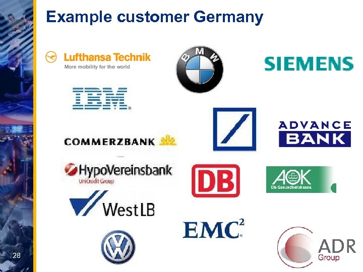 Example customer Germany 28