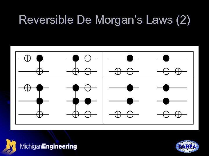 Reversible De Morgan's Laws (2) DARPA