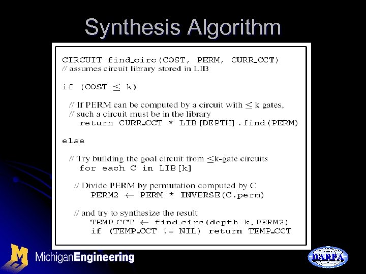 Synthesis Algorithm DARPA