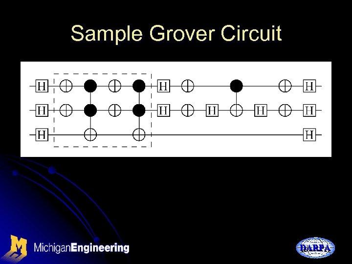 Sample Grover Circuit DARPA
