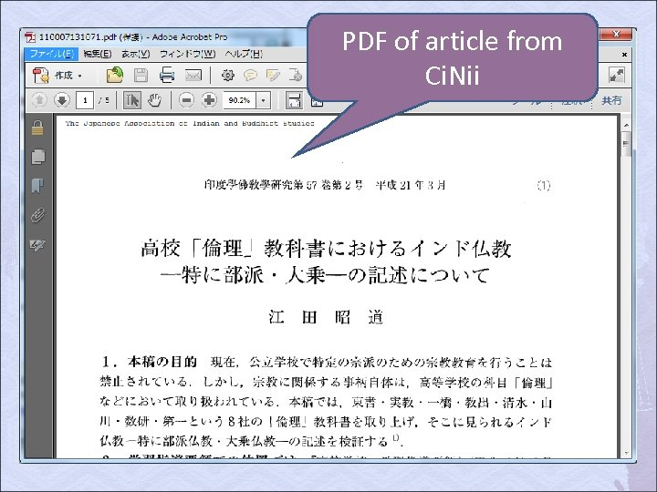PDF of article from Ci. Nii