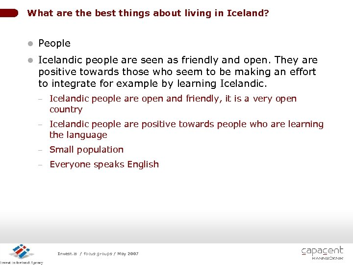 What are the best things about living in Iceland? l People l Icelandic people