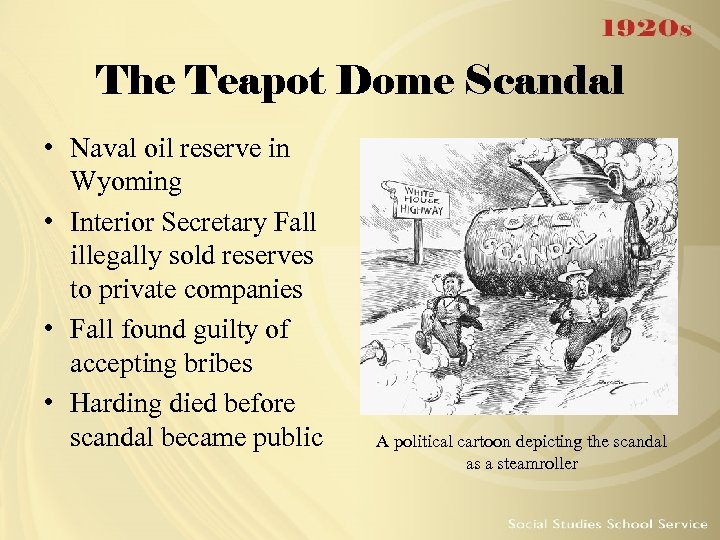 Summary The Teapot Dome Scandal How Big Oil Bought The Harding