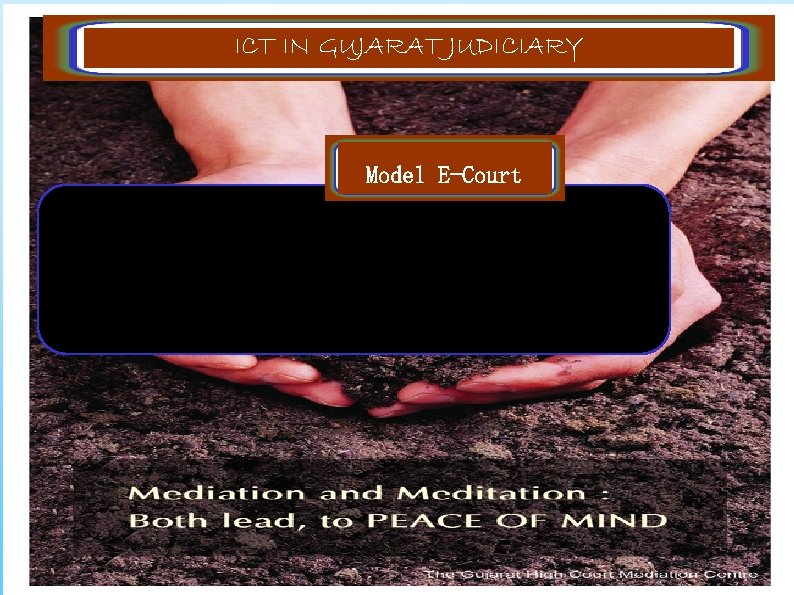 ICT IN GUJARAT JUDICIARY Model E-Court The objective of the project is to setup