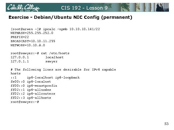 CIS 192 Lesson 9 Lesson Module Status