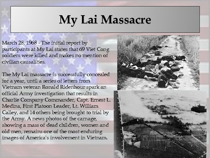 My Lai Massacre March 28, 1968 - The initial report by participants at My