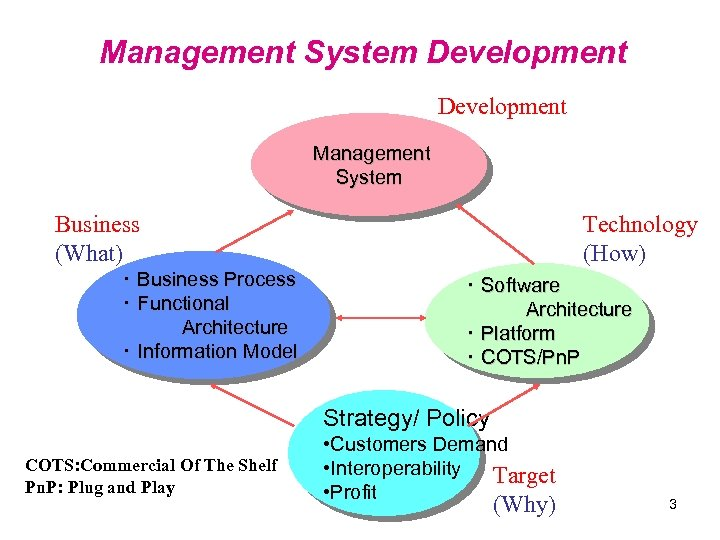 Management System Development Management System Business (What) ・ Business Process ・ Functional Architecture ・