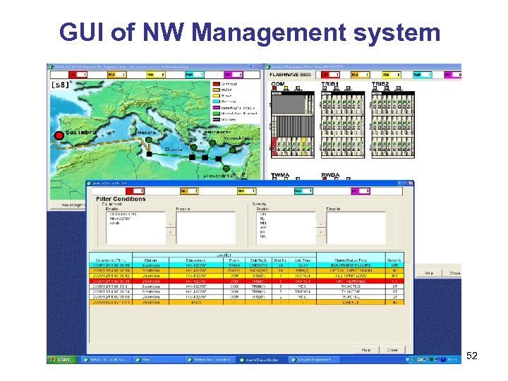GUI of NW Management system 52