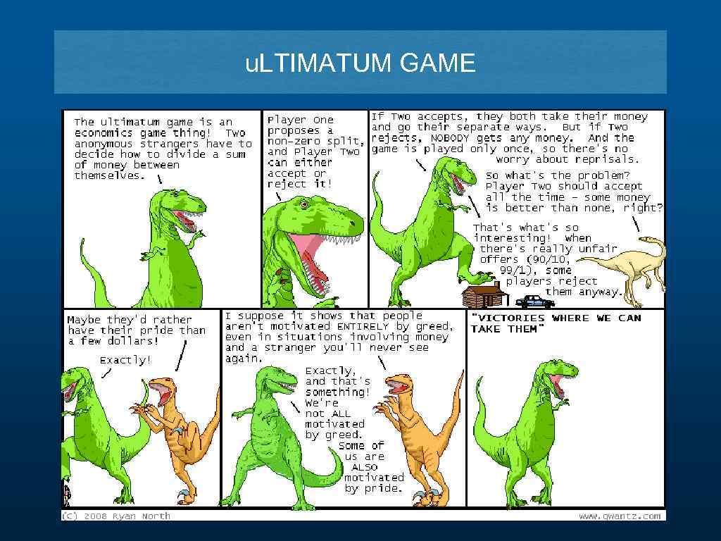 u. LTIMATUM GAME