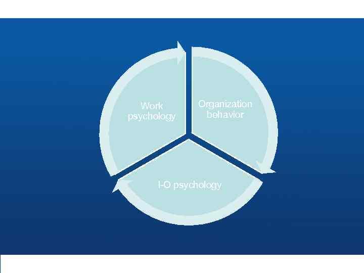Work psychology Organization behavior I-O psychology