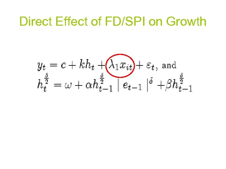 Direct Effect of FD/SPI on Growth