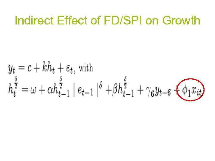 Indirect Effect of FD/SPI on Growth