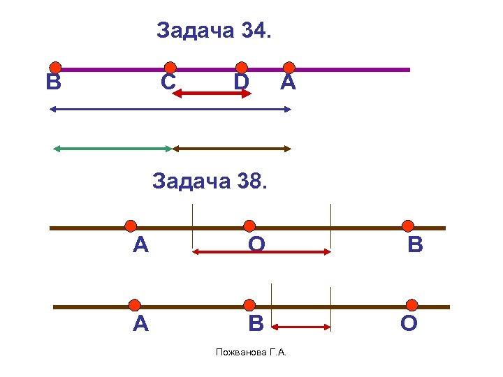 Задача 34. В С D А Задача 38. А О В А В О