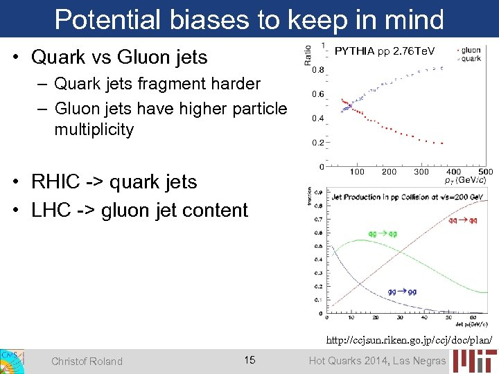 Potential biases to keep in mind PYTHIA pp 2. 76 Te. V • Quark