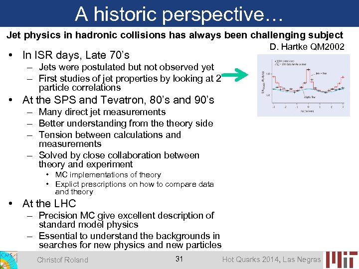 A historic perspective… Jet physics in hadronic collisions has always been challenging subject D.